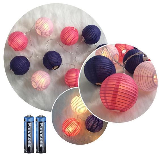 Guirnalda Luz Led Esferas Luz A Pila Colores X10 Cuotas