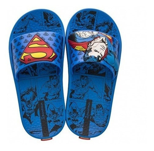Ojotas Superman Liga De La Justicia Con Envio Gratis Fty