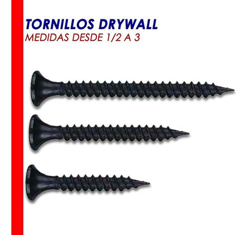 Tornillos De Drywall 1/2 Hasta 3 Caja Somos Tienda Física