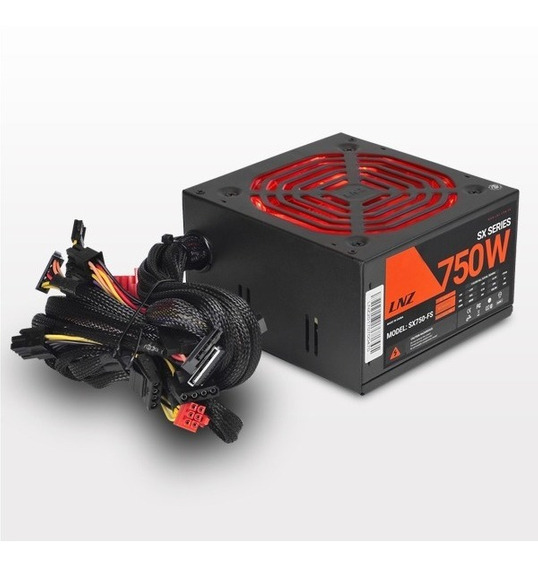 Fuente Pc Sentey Lnz Zx750-ls 750w Fan 120mm Led Sx750