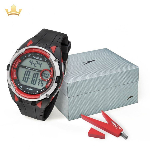 Relógio Speedo Masculino Kit 81148g0evnp1k2 Com Nf
