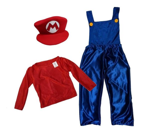 Disfraz Cosplay Niños Super Mario Bros Random Comics