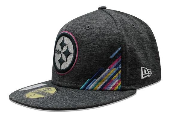 Gorra New Era 59 Fifty Nfl Steelers Crucial Catch Gris