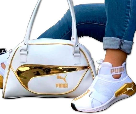 Zapatos Botines Pm + Bolso Dama Colombianos Promocion