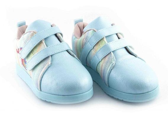 Tênis Beakid Infantil Unicórnio Azul De Cano Baixo