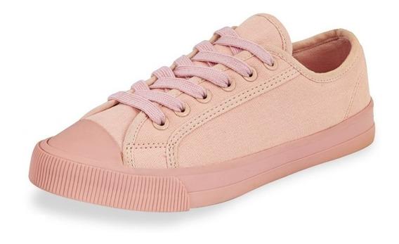 Tenis Sneakers Dama Mujer Textil Color Maquillaje Comodos