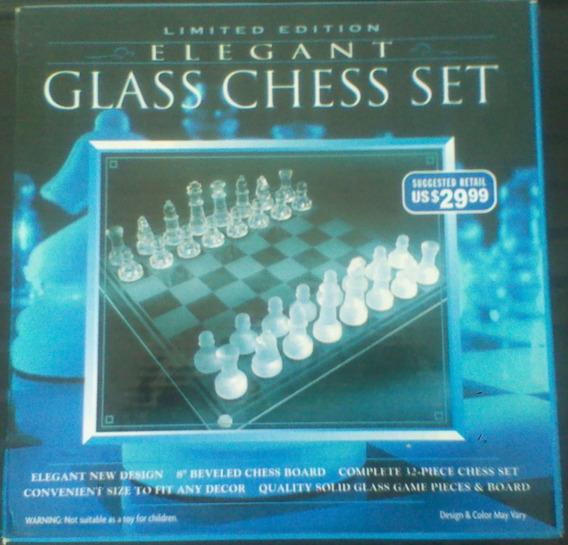 Juego De Ajedrez Glass Chess Set, Edición Limitada*