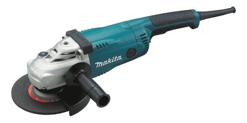 Esmerilhadeira angular Makita GA7020 azul-turquesa, preta e branca 220V