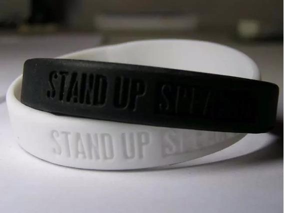 Pulseira Nike Campanha Anti Racismo Stand Up Speak Up 21 Cm