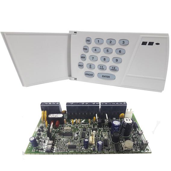 Kit Alarme Residencial Comercial Paradox Central 728 Ult + Teclado 636 Esprit 24 Zonas Monitoramento