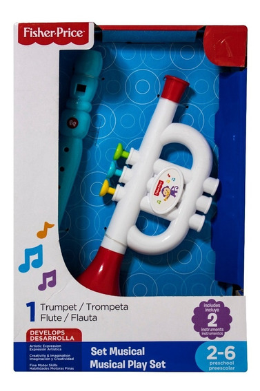 Set Musical Fisher Price Flauta Bebé Instrumentos Juego