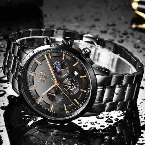 Relógio Masculino Lige 9877 Luxuoso Original Redondo Quartzo