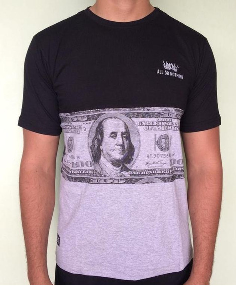 Camiseta Chronic Preta E Cinza Dolar Original