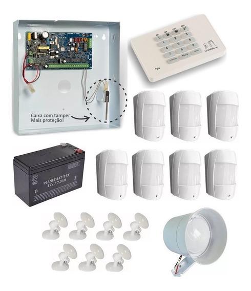 Kit De Alarme Vw16z Star Viaweb C/ 7 Sensor + Teclado 16s