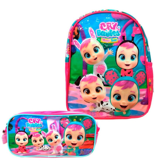 Promo! Combo Cry Babies Mochila 12 Y Cartuchera Original