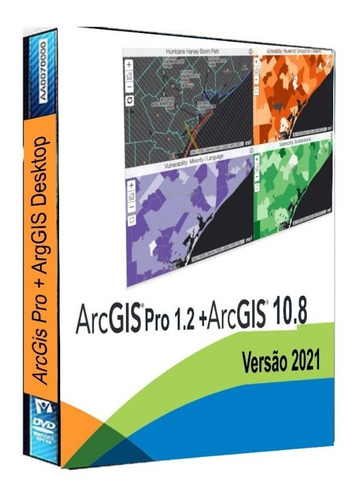 Esri Arcgis Desktop 10.8 Atualizado + Esri Arcgis Pro 1.2