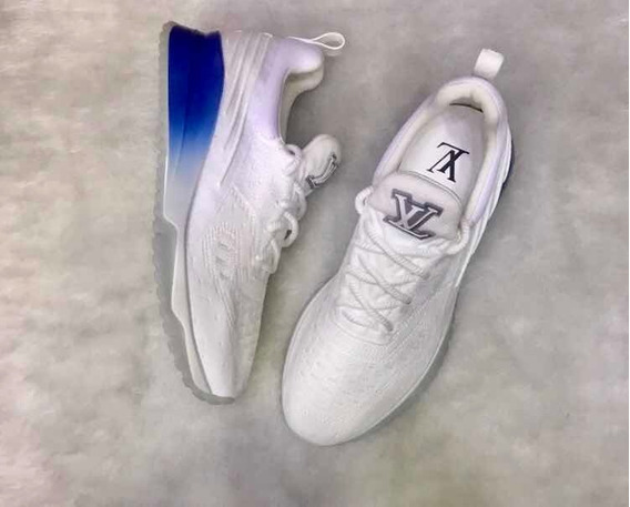 Tênis Louis Vuitton V N R Branco/ Azul 42br