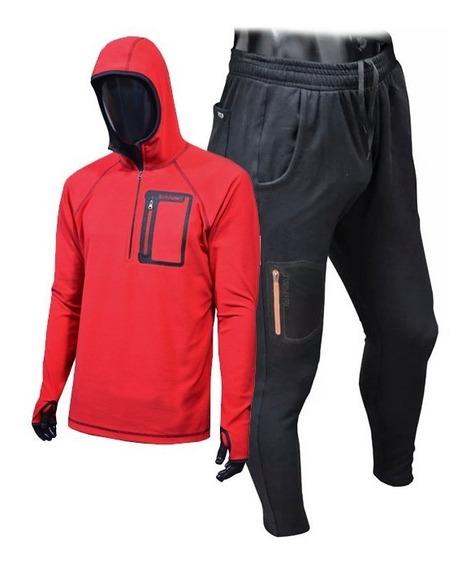 Combo Buzo Hoddie + Pantalon Joggers Rotpunkt Escalada