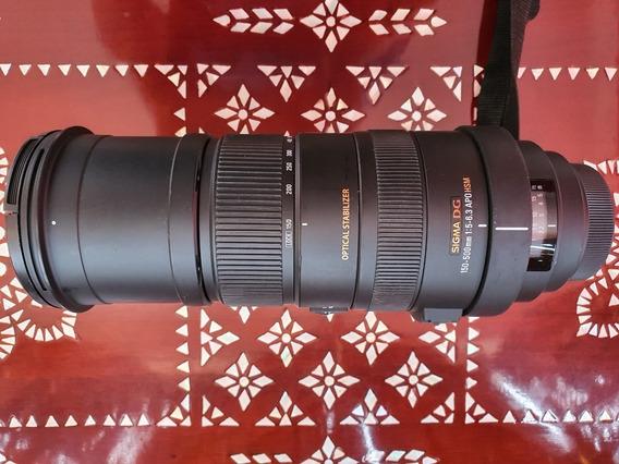 Lente Sigma 150-500mm F/5-6.3 Apo Hsm Dg Para Dslr Sony