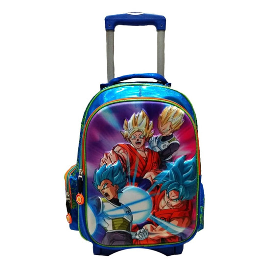 Mochila Primaria Dragon Ball Super Original Con Ruedas