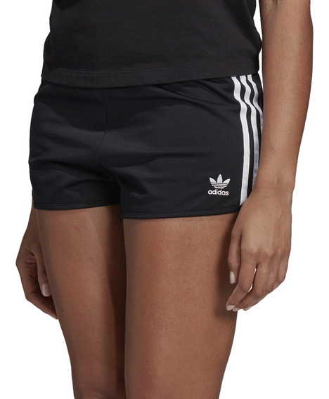 Short adidas Originals Moda 3 Str Mujer Ng/bl