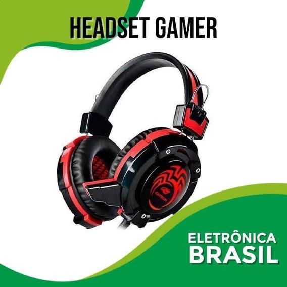 Headset Gamer Flycatcher Com Iluminaçao Rgb