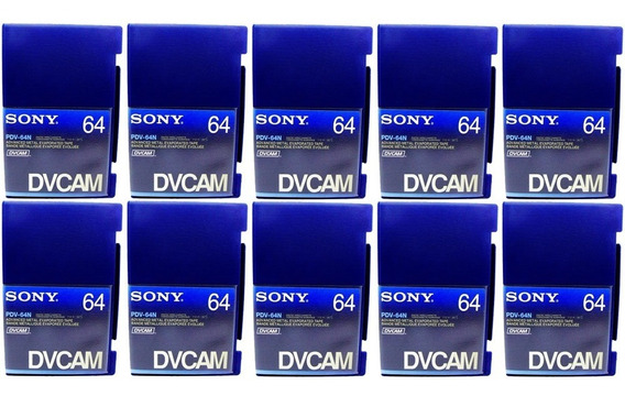 Fita Video Sony Dvcam Pdv64n 64 Minutos Profissional Kit 10