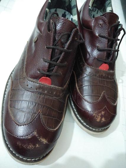 Zapatos Informales De Cuero. Talle 42 Hombre