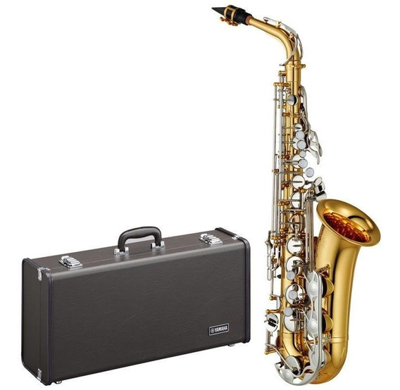 Saxofone Alto Yamaha Yas26 Id Mib Lacrado Com Case Sax