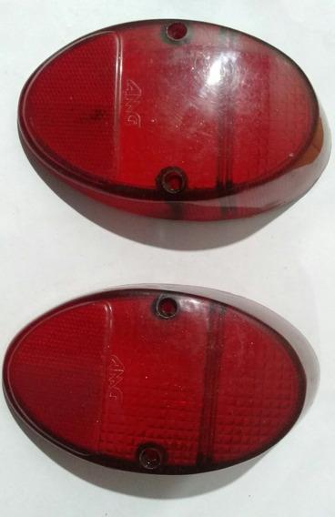 Par Lente Lanterna Traseira Rubi Fusca 1200/1300 De 69 A 73