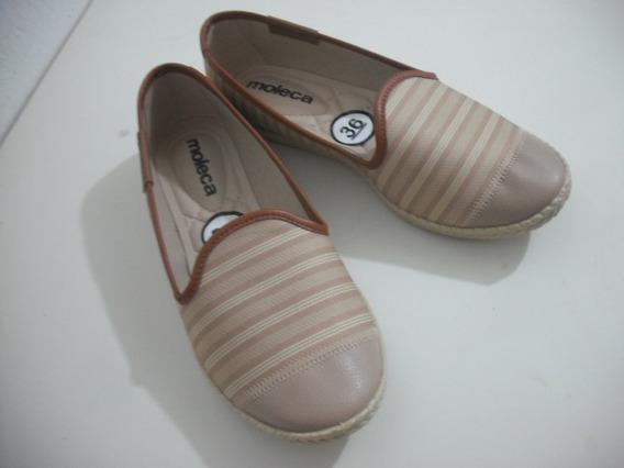 Sapato Sapatilha Bege Marrom Moleca 36 Sem Uso