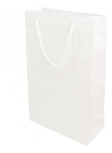 Sacolinha De Papel Com Alça - Papel Importado - 35x22 Cm