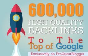 Poderosos Links Seo 600.000 Gsa Dofollow Backlink