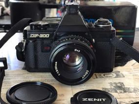 Câmera Fotográfica Analógica Zenit Df-300 E Flash Vivitar
