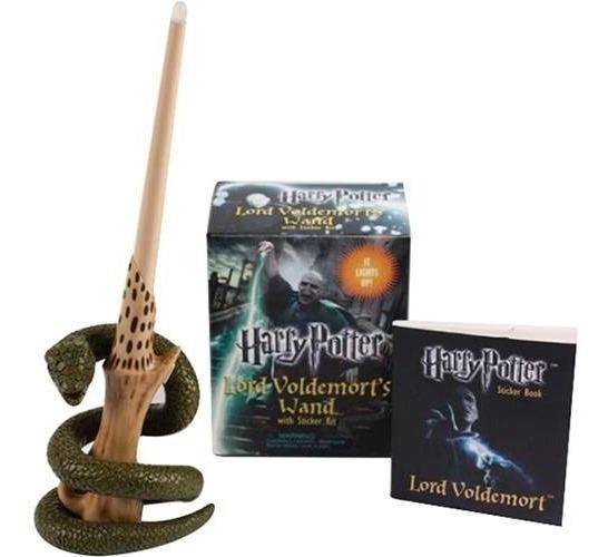 Kit Livro - Varinha De Harry Potter Lord Voldemort + Adesivo