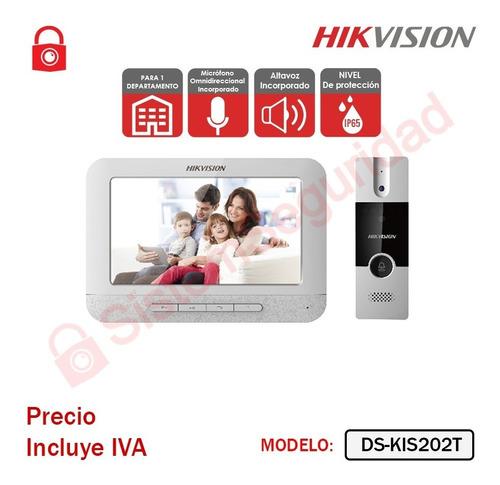 Imagen 1 de 3 de Kit Videoportero Analogo Video Portero Ds-kis202 T Hikvision