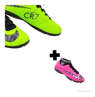 Kit 2 Tênis Socity Cr7 Grátis Caneleira + Frete Grátis