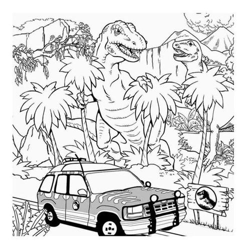 Libro Colorear Jurassic World Park Dinosaurios Mercado Libre La aplicación contiene 60 imágenes para colorear: libro colorear jurassic world park dinosaurios