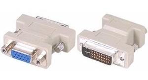Conector Adaptador Dvi 24+5 Pinos Macho Para Vga 15 Pinos