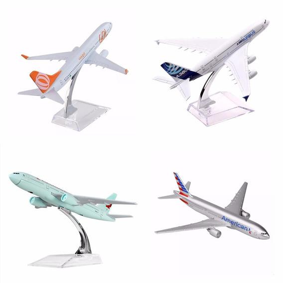 13 Pç Miniatura Aviao Metal Boeing Airbus Varios Modelos 16c