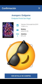 Boletos Premier Avengers Endgame Portal San Angel