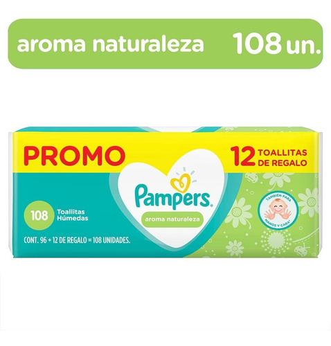 Pampers Toallitas Húmedas Aroma Naturaleza 108 Unidades