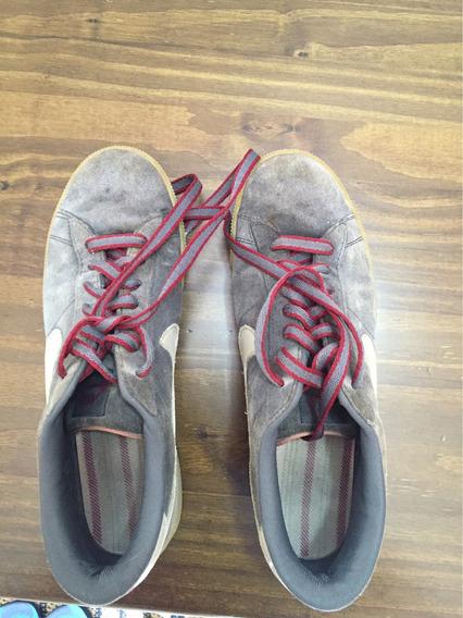 Tênis Nike Skate Cinza Camurça N. 42