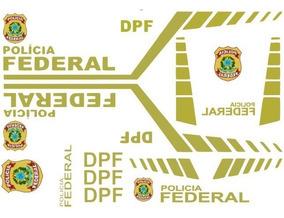 Vinil Adesivos Polícia Federal Automodelo 1/8 E Para-brisas