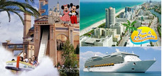 Liquido!!! Paquete De Estadia En Miami, Orlando Y Un Crucero