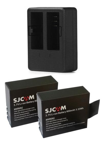 2 Bateria Sjcam Sj4000 5000 +1 Carregador Duplo Original