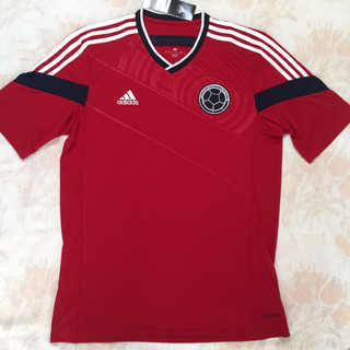 G87250 Camisa adidas Colômbia Away 2014 M Vermelha Fn1608