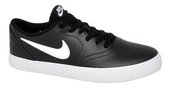 Tênis Nike Sb Check Solar Preto/branco 10373 Original