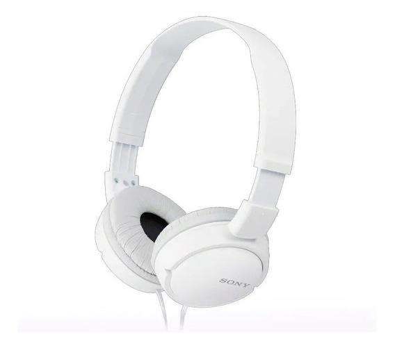 Fone Ouvido Branco Sony Headphone Original Mdr-zx110