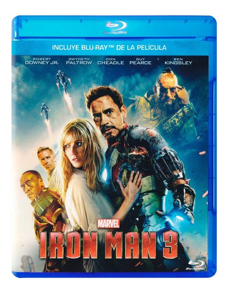 Iron Man 3 Tres Robert Downey Jr Pelicula Blu-ray
